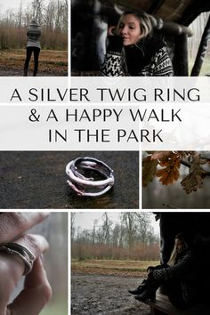 A Happy Walk in The Park // Photography Forest // Sanda Vidmar's sterling silver Twig Ring with beautiful symbolism