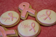 Pink Ribbon Breast Cancer Cookies
