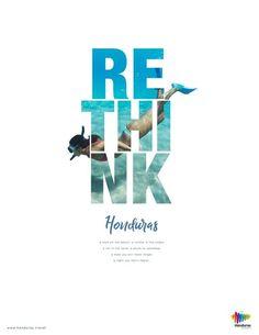 graphic campaign Rethink Honduras Print Campaign on Behance Creative Poster Design, Creative Posters, Graphic Design Posters, Graphic Design Inspiration, Graphisches Design, Flyer Design, Layout Design, Ad Layout, Typo Design