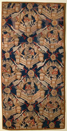 Heraldic Composition Date: ca. 1350–75 Culture: South Netherlandish Medium: Wool warp, wool wefts Classification: Textiles-Tapestries Accession Number: 46.175