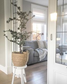 Kerstboomtrend 2018 - Ceder L. The White Company, Living Room Inspiration, Home Interior Design, Home And Living, Sweet Home, New Homes, Home And Garden, Lounge, Indoor