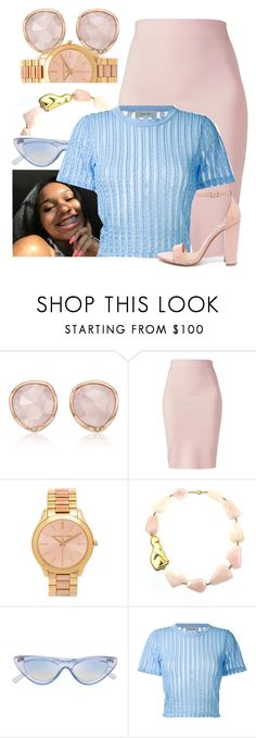 """""""I Woke Up This Morning With Gifts To Open. My Two Eyes"""" by sophisticatedsammy ❤ liked on Polyvore featuring Monica Vinader, Winser London, Michael Kors, Carven and Steve Madden"""