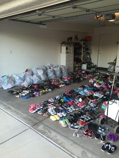 """More of the shoes ready to give to those in need thanks to our successful """"Soleful Schools"""" drive with the UA Wildcats and local elementary schools."""