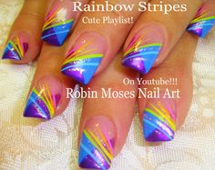 """rainbow nail art 