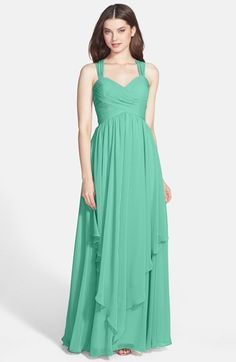 Eliza J Crisscross Bodice Gown available at #Nordstrom