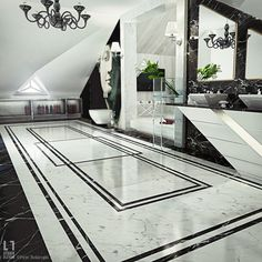 Ultra Luxury Bathroom Inspiration - Fox Home Design Floor Design, Ceiling Design, Tile Design, House Design, Bath Design, Bad Inspiration, Bathroom Inspiration, Bathroom Ideas, Bathroom Tubs