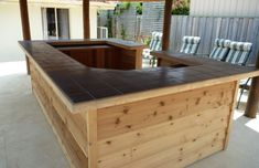 pictures of outdoor bars for the home | Custom Outdoor Bars, Custom Home Bars and Timber Deckings