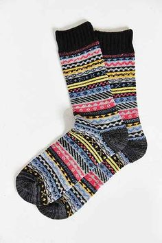Fair Isle Boot Sock - Urban Outfitters
