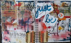 Mixed Media Journal Layout by Lori Wilbanks