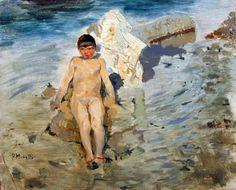 Francesco Paolo Michetti. Fanciullo al mare.