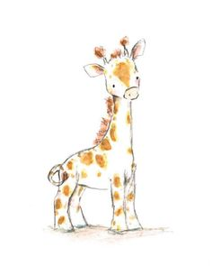 Illustration Enfant This sweet baby-faced giraffe makes the jolliest fellows. Cute Drawings, Animal Drawings, Drawing Animals, Child Draw, Image Deco, Giraffe Art, Cute Giraffe Drawing, Cartoon Giraffe, Giraffe Painting