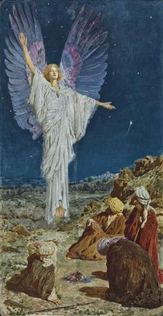 The angel appearing to the shepherds by William Henry Margetson