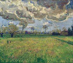 Пейзаж под грозовым небом, 1888