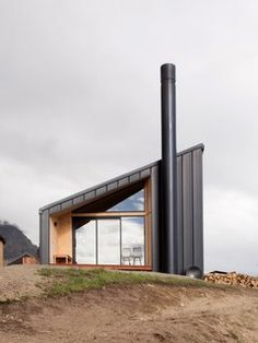 Photo 1 of 13 in A Tiny Cabin Boasts Big Views of the New Zealand Countryside - Dwell New Zealand Architecture, Plans Architecture, Architecture Awards, Architecture Design, Southern Architecture, Sustainable Architecture, Metal Building Homes, Building A House, Building Ideas