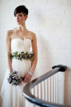 She proves that you can have beautiful short hair and get away with not wearing a veil at your wedding