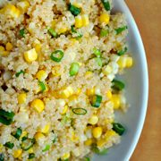 Just a Taste » Quinoa with Corn and Scallions