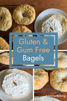 A delicious, easy to make, gluten free, gum free bagel - on your table in no time! Light and chewy on the inside with a delicious crust on the outside. #zestforbaking #glutenfreebagels #bagelrecipes