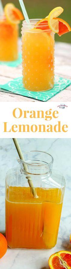 This refreshing homemade orange lemonade is a must-make summer drink! #summer #summervibes #lemonade #citrus #drinks #drinkrecipes