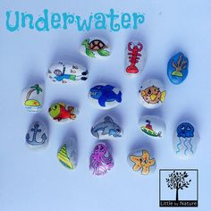 The underwater theme is back and better than ever! Watch out for that Shark! The underwater theme is back and better than ever! Watch out for that Shark! Pebble Painting, Pebble Art, Stone Painting, Rock Painting, Stone Crafts, Rock Crafts, Arts And Crafts, Story Stones, Bottle Drawing