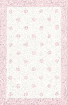 The Rug Market Baby Rugs Polka Dots Pink Rug