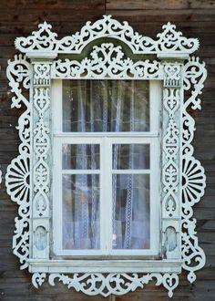 Located inTver, Russian folk art 19th century ~ Wonderful gingerbread trim!: