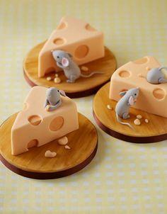 Edible Art. Mice & Cheeses Mini Cakes