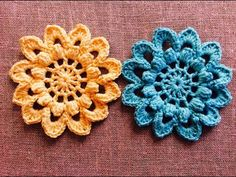 Crochet Flower Motif Tutorial - YouTube