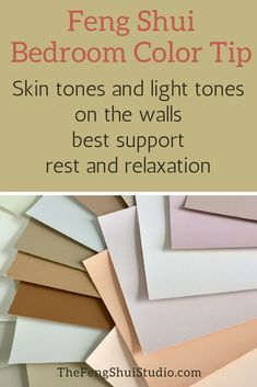 Colors are an important way to Feng Shui your home. For restful sleep, Feng Shui. - The Feng Shui Studio Feng Shui Master Bedroom, Feng Shui Bathroom, Feng Shui Basics, Feng Shui Tips, Bedroom Wall Colors, Bedroom Color Schemes, Bedroom Ideas, Colour Schemes, Feng Shui Layout