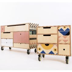 The Play Play chests from De Steyl come in all different sizes, with removable drawer boxes that are also interchangeable and reversible www.desteyl.co.za