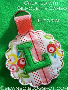 Cutting Fabric with Silhouette Cameo, Use Heat N bond, remove paper backing, stick to mat.  For felt use cut blade @ #10 and 2 passes.