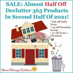 Get your home clutter free in the second half of 2021 with almost half off select Declutter 365 products! {on Home Storage Solutions 101} Declutter Your Home, Organizing Your Home, Organizing Ideas, Office Organization At Work, Paper Organization, Clearing Out Clutter, Home Storage Solutions, Clutter Free Home, Paper Clutter