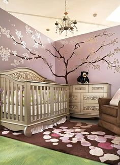 love the silver furniture | Baby stuff!