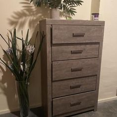 Culverbach Chest of Drawers | Ashley Furniture HomeStore Leather Furniture, Wood Furniture, Spare Bed, Grey Bedroom Furniture, Pet Urine, Clothing Storage, At Home Store, Engineered Wood, Chest Of Drawers