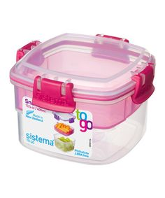 Love this Pink Snacks to Go Stacking Food Container on #zulily! #zulilyfinds