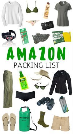 What to pack for the Amazon Jungle | Travel Packing List for Tropical Climates.
