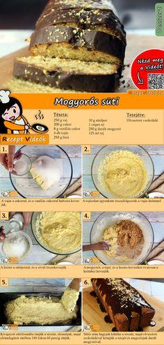 Hétvégén sütnél valami könnyed és ízletes sütit? Készítsd el a Mogyorós Sütit! A Mogyorós süti recept videóját a kártyán levő QR kód segítségével bármikor megtalálod! :) #MogyorósSüti #ReceptVideók #Recept #Sütemény #Desszert #SüteményRecept Cookie Recipes, Dessert Recipes, Hungarian Recipes, Homemade Cookies, Dessert Drinks, Healthy Drinks, Cake Cookies, Food And Drink, Sweets