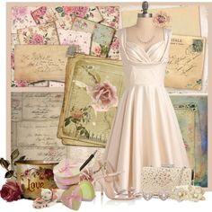"""Vintage Love Letters"" by jackie22 on Polyvore"