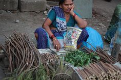 Dharavi Neem Stick Sellers