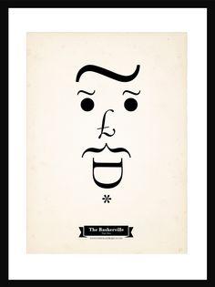 The Type Faces Project con tipografía The Baskerville, Tiago Pinto, 2012.