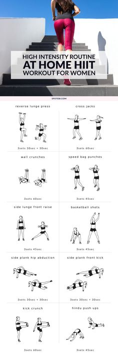 The holiday season is the toughest time of the year to stay on track. If you can't skip the high-piled holiday plates, simply commit to burning off all those additional calories with this high intensity workout routine! http://www.spotebi.com/workout-routines/at-home-high-intensity-routine/