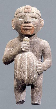 Cacao diety, Aztec, stone sculpture