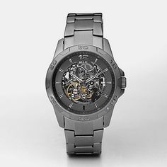Gunmetal Stainless Steel Automatic Watch