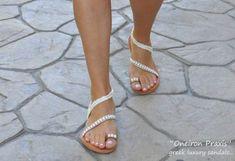 """Νυφικά σανδάλια """"Fedra"""", ελληνικά σανδάλια, δερμάτινα σανδάλια, υπόλευκα Bridal Sandals, Dress, Shoes, Fashion, Moda, Dresses, Zapatos, Shoes Outlet, Fashion Styles"""