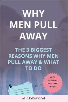 Why men pull away dating men relationship advice love advice dating tips . Casual Relationship, Relationship Advice, Relationship Science, New Relationships, Relationship Problems, Why Men Pull Away, Ex Factor, Love Advice, Dating Advice For Men