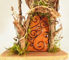 Casa de hadas, al aire libre Casa de hadas, Fairy Garden House, casa de Gnome, Gnome Garden House, reciclado de madera accesorios para casa hadas hadas