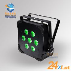 24x Hot Sale Rasha Quad 7 10w Rgba Rgbw 4in1 Wireless Led Flat Par Profile Led Flat Par Can Disco Dmx512 Stage Lighting Commercial Lighting Cool Things To Buy