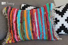 Diy Rag Rug Pillow <3
