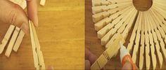 Artesanato - 7 maneiras de usar pregadores de roupas. As secadoras de roupas…