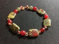 Handmade Natural SemiPrecious Stone Bracelet by CatchyTreasures