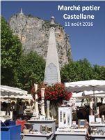 Marché potier de Castellane (Alpes de Haute Provence) le jeudi 11 août 2016